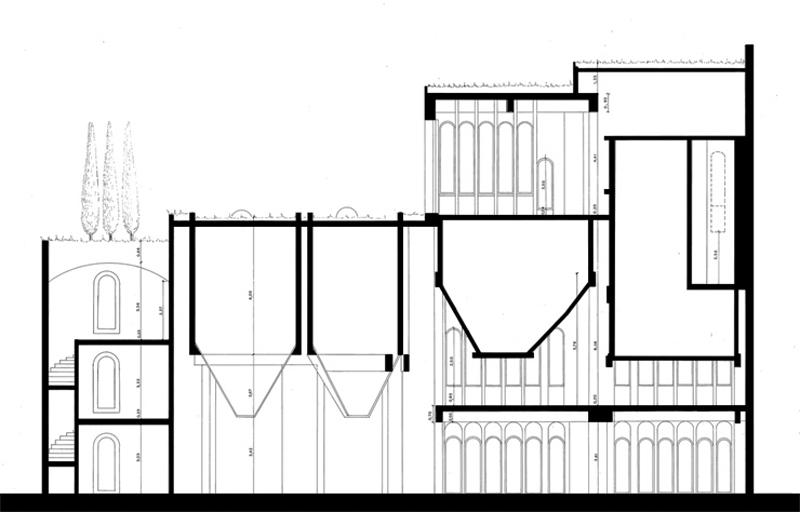 Arquitectura_La Fabrica_Bofill_sección dibujo