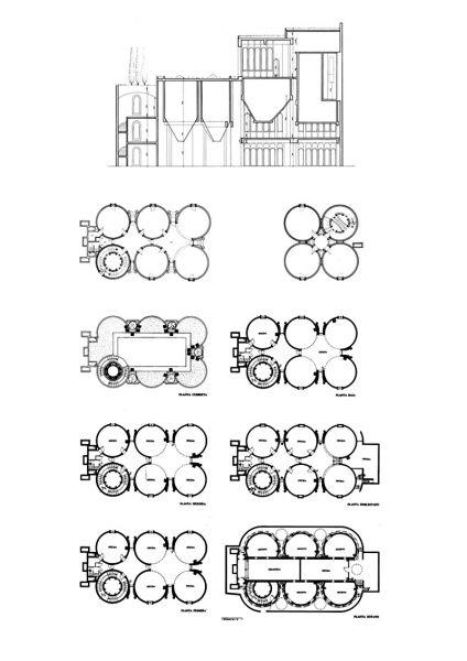 Arquitectura_La Fabrica-Bofill-los silos _dibujos