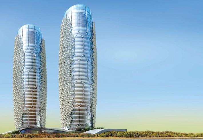 Fachada responsiva en la sede del abu dhabi investment for Edificio movil en dubai
