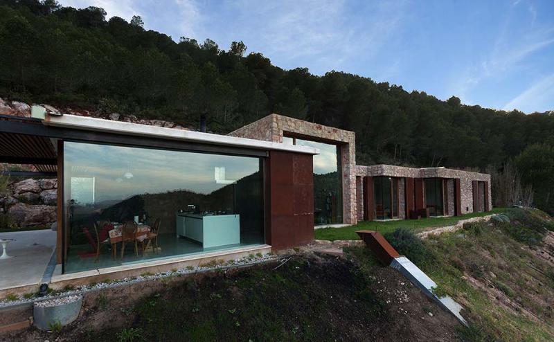 Arquitecto, altarriba, favara, casa, ladera, bio