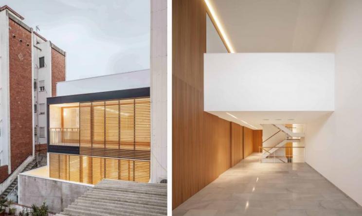 Casa CP, Alventosa Morell, Barcelona, Edificio medianeras