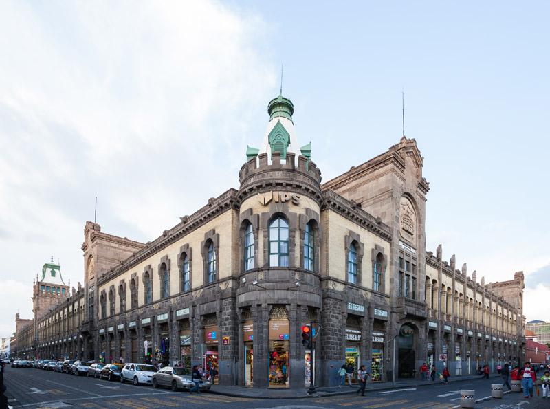 rquitectura_Antiguo_Mercado_de_la_Victoria,_Puebla,_México vista general fachadas