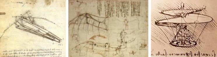 Tabla voladora Hendo,  Leonardo Da Vinci, Ornithopter, Coche, Buckminster Fuller, Dymaxion, Norman Foster , Zaha Hadid, yate, Unique Circle Yachts, Philippe Starck , bicicleta, City Pibal