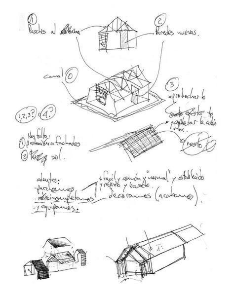 arquitectura-rehabilitación -de-un-establo-ecuador_al borde_bocetos