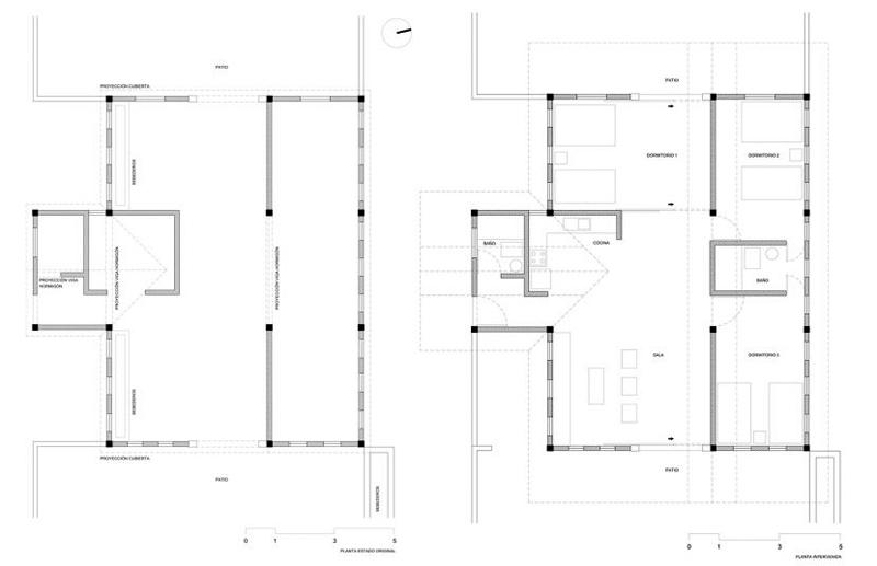 arquitectura-rehabilitación -de-un-establo-ecuador_al borde_planta proyecto