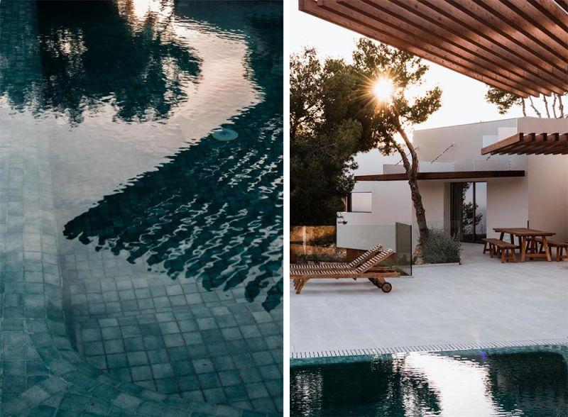 arquitectura vivienda entrepinares detalle piscina lamas madera