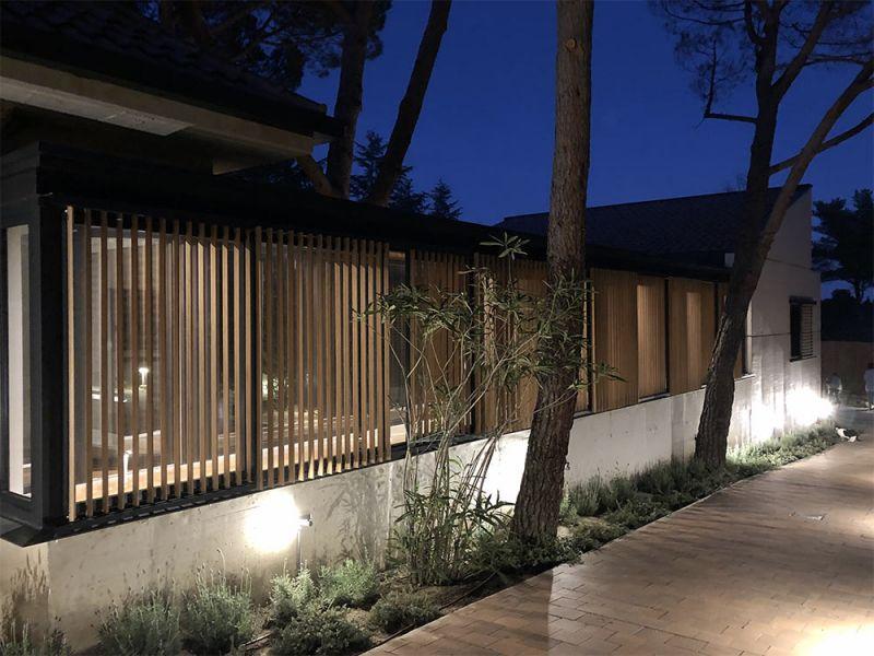 arquitectura casa oma fotografia exterior nocturna