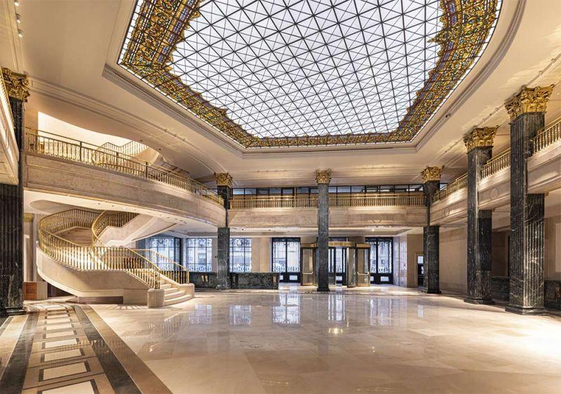 arquitectura centro canalejas estudio lamela sala hall lucernario