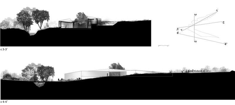 arquitectura centro de biodiversidad agricola loja secciones y alzados