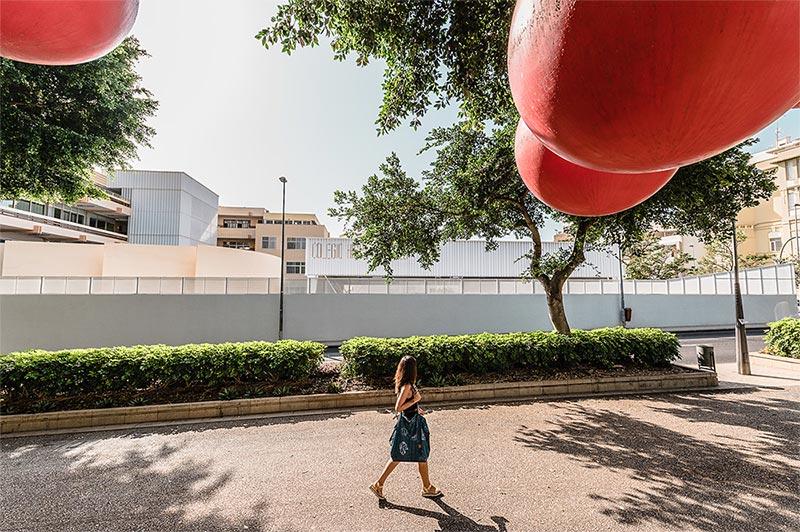 arquitectura equipo olivares cubierta ligera colegio hispano ingles foto exterior acera