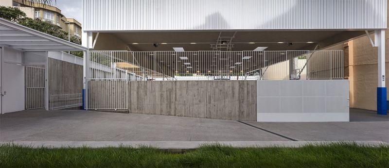 arquitectura equipo olivares cubierta ligera colegio hispano ingles foto exterior
