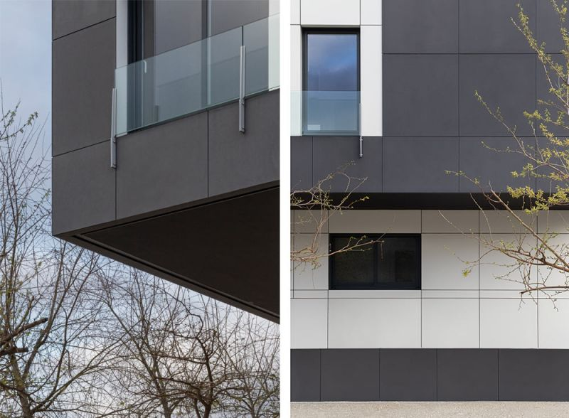 arquitectura residencial con acabado equitone antracita TE85