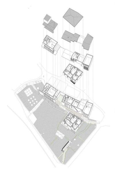 arquitectura casa museo rosalia de castro axonometria gil pita nieto peñamaria