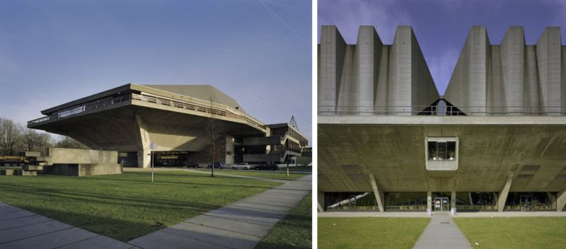arquitectura Aula Congress Center Universiteit Delft de Van den Boeck and Bakema. Fotografía de Rijksdienst voor het Cultureel Erfgoed