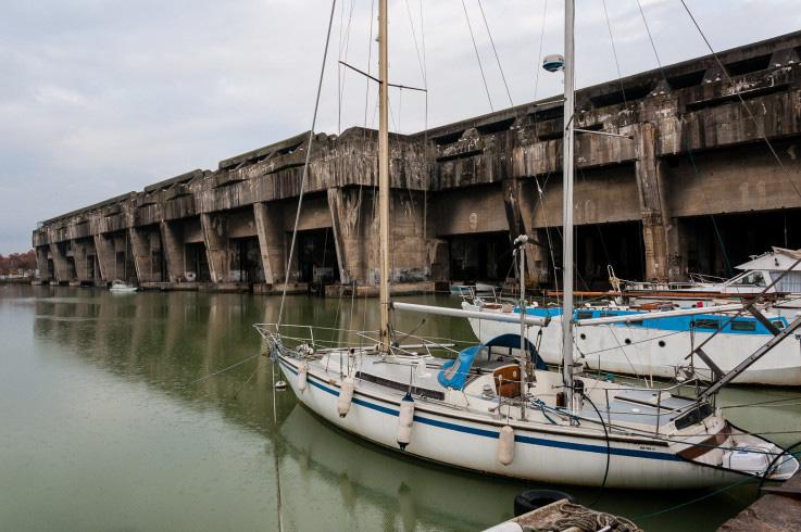 Base Sous-Marine BETASOM de Fritz Todt. Fotografía de Jean Pierre Roche