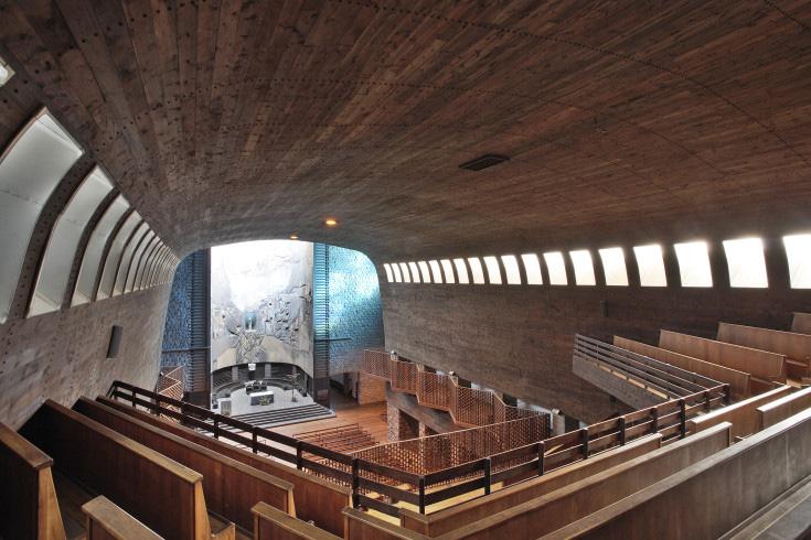 Basílica de Nuestra Señora de Aránzazu de Francisco Javier Sáenz de Oíza y Luís Laorga Fotografía de Jesús Martín Ruíz