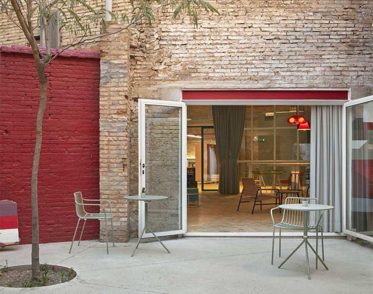 arquitectura wayco ruzafa patio olivo toldo retractil