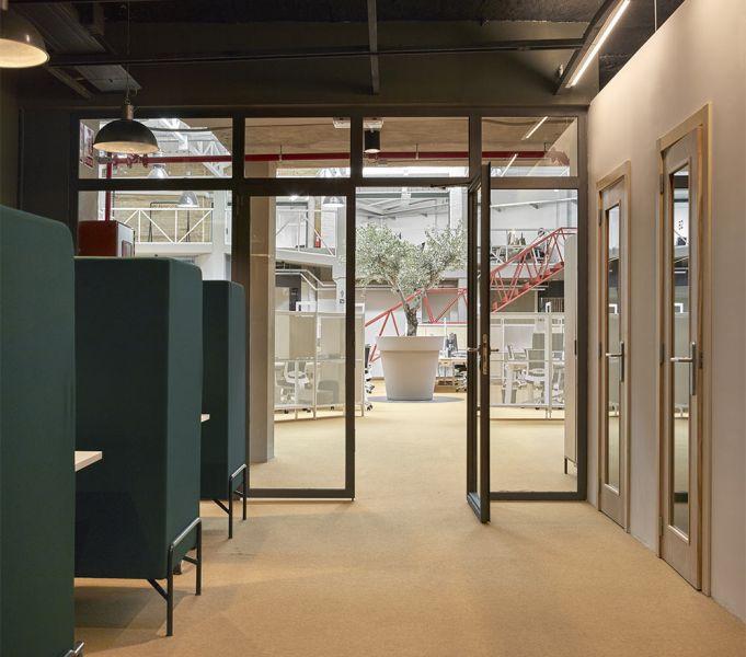 arquitectura wayco ruzafa despachos privados interior mamparas