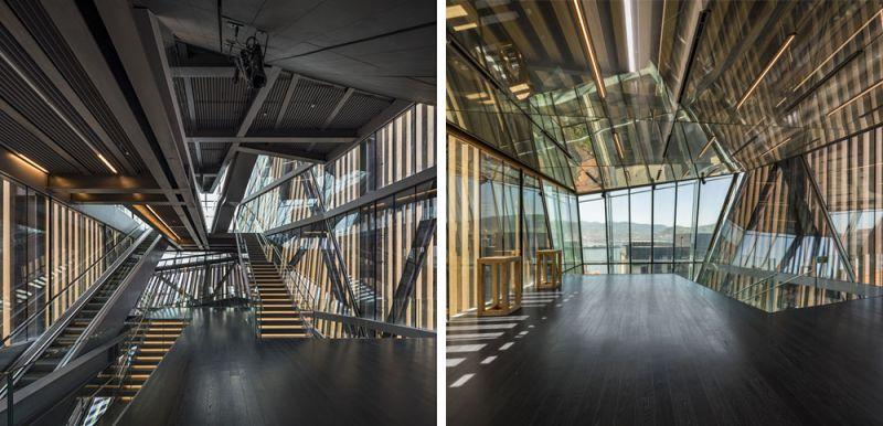 arquitectura muxikebarri interior escaleras mirador