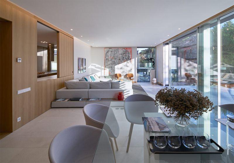 arquitectura edificio madrigal 16 bueso inchausti & rein salon estar comedor sofas