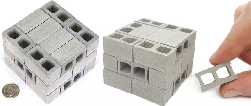arquitectura regalo arquitectos mini bloques de hormigon