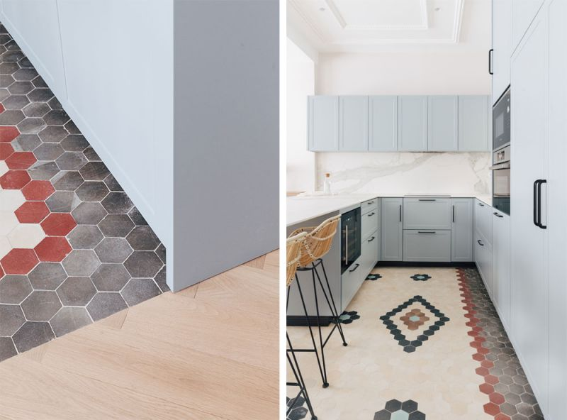 arquitectura destudio casa ensanche interiorismo detalle suelo mosaico nolla