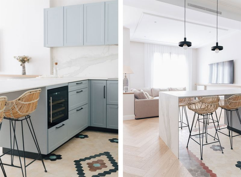 arquitectura destudio casa ensanche interiorismo cocina comedor