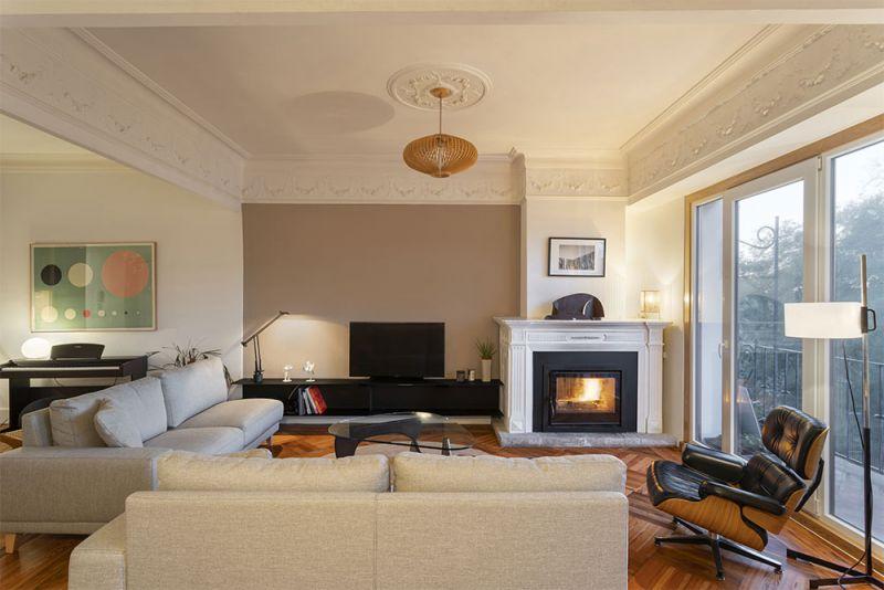 arquitectura reforma interior diaz y diaz arquitectos salon chimenea