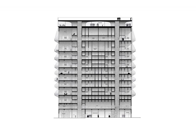 Arquitectura 2017_The Silo_sección del edificio