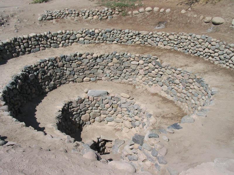 Arquitectura_Acueductos-de Nazca_vista superior chimenea helicoidal