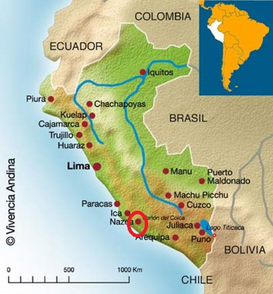 Architecture_Aqueducts-of Nazca_map of the Peru area