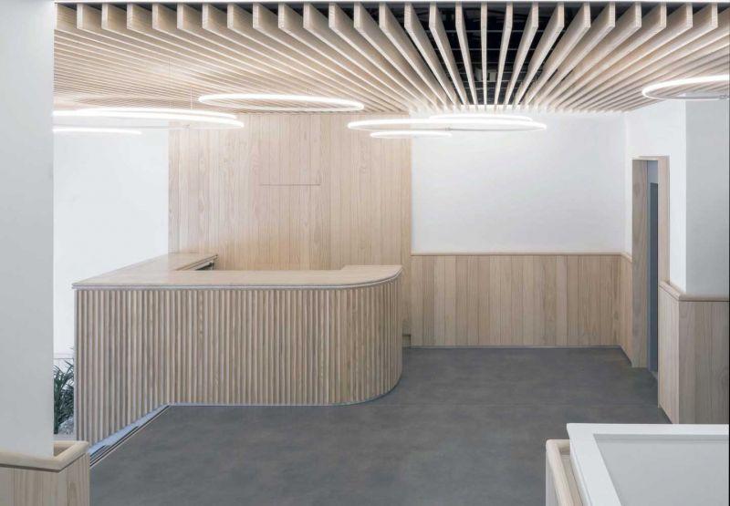 arquitectura ADOM studio NEN Nuevo Edificio Noreña Accoya fotografia interior hall