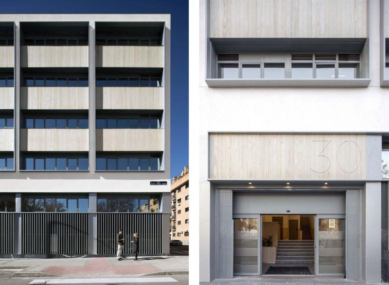 arquitectura ADOM studio NEN Nuevo Edificio Noreña Accoya fotografia exterior acceso detalles