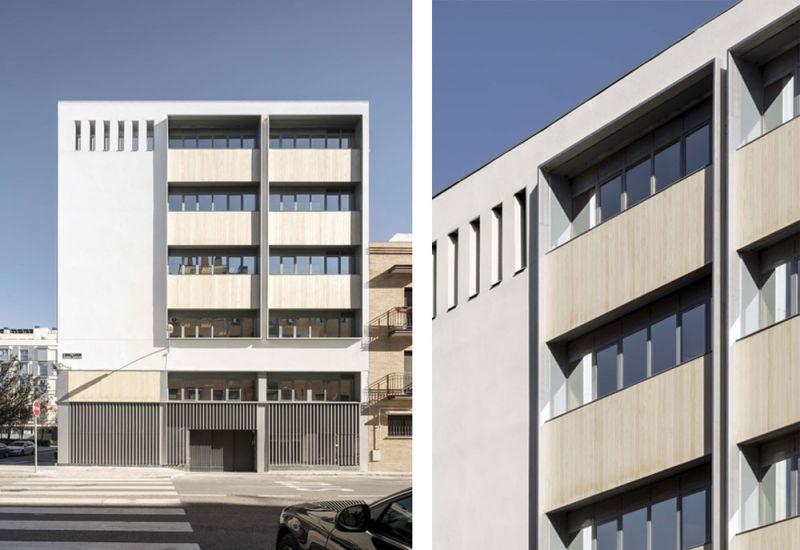 arquitectura ADOM studio NEN Nuevo Edificio Noreña Accoya fotografia exterior detalles