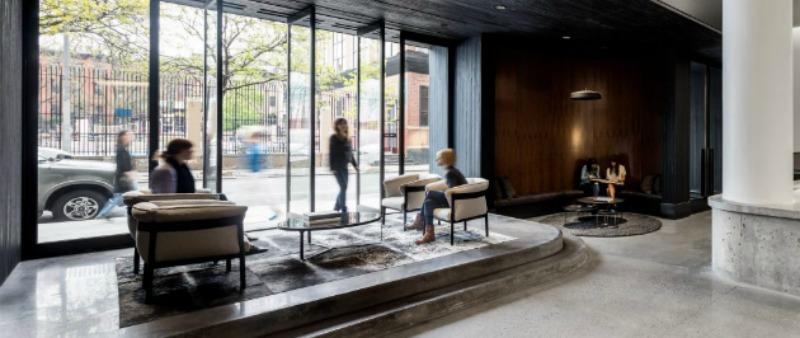 Arquitectura corporativa con filosof a yin yang sede for Empresa diseno de interiores