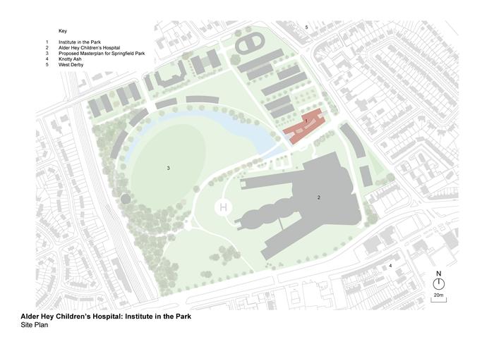 arquitectura_ Alder  Hospital_plano lugar