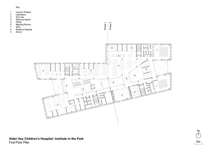 arquitectura_ Alder  Hospital_planta