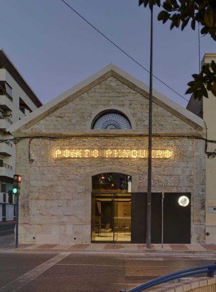 Arquitectura almacenPesquero_Santa Pola_imagen de fachada