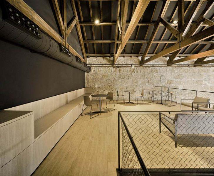 Arquitectura almacenPesquero_Santa Pola_Altillo y barandilla