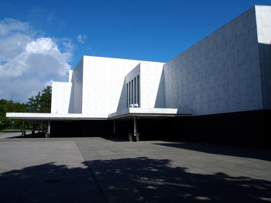 arquitectura_Alvar Aalto_finlandia hall_fachada acceso