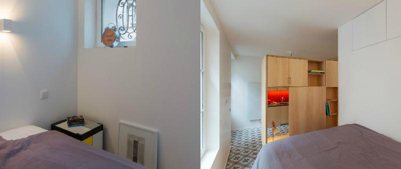arquitectura, arquitecto, diseño, design, interiorismo, Anne Rolland Architecte, Francia, París, interior, subterráneo, bajo tierra, estudio, vivienda, caja de música, Arquitectura parisina, mosaico, Haussmann-era