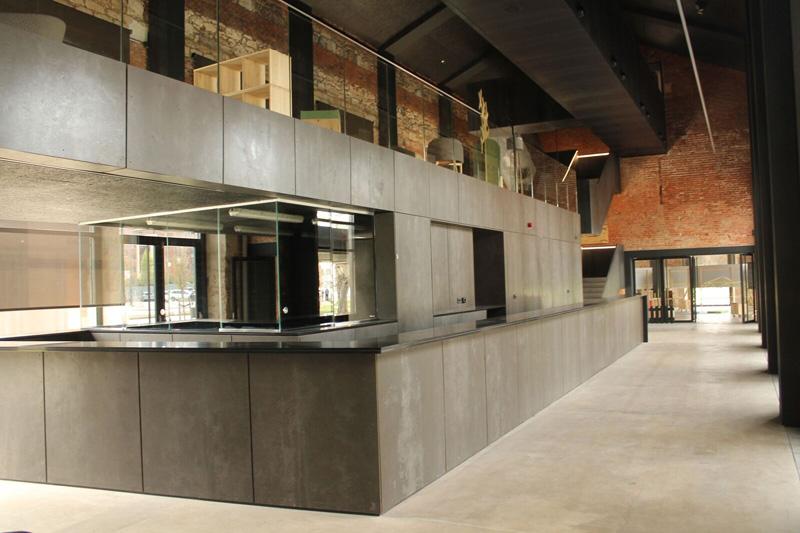 Arquitectura_ Antigua Estación Burgos_ zona info mostrador