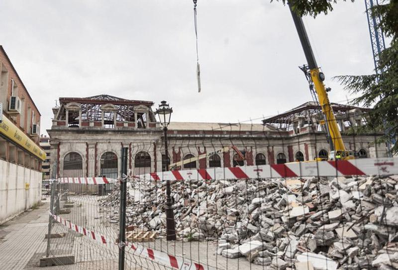 Arquitectura_ Antigua Estación Burgos_ durante las obras de rehabilitación