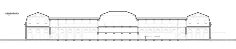 Arquitectura_ Antigua Estación Burgos_ sección proyecto rehabilitación