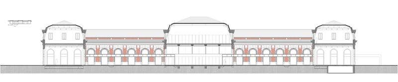 Arquitectura_ Antigua Estación Burgos_ alzado sección