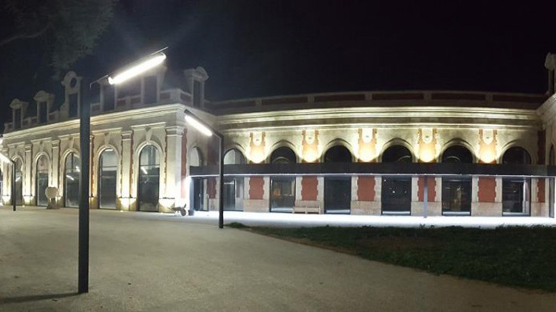 Arquitectura_ Antigua Estación Burgos_ visión nocturna