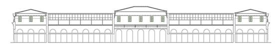 Arquitectura_antigua estación Burgos_alzado antes de la intervención
