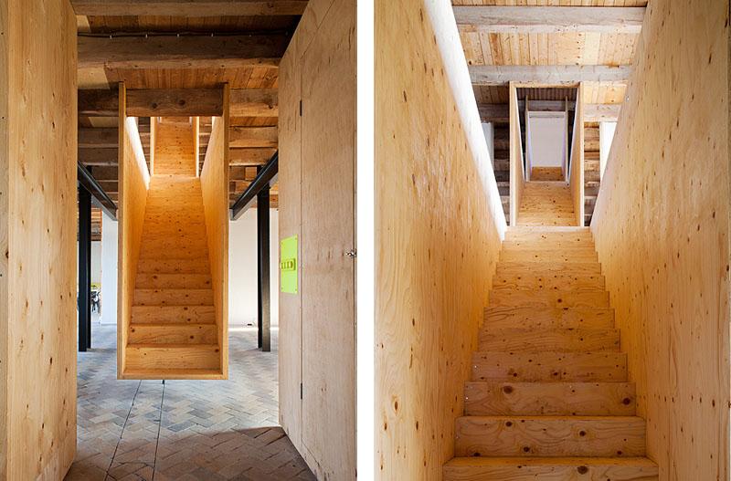 Arquitectura_antiguo molino suecia_escaleras vistas