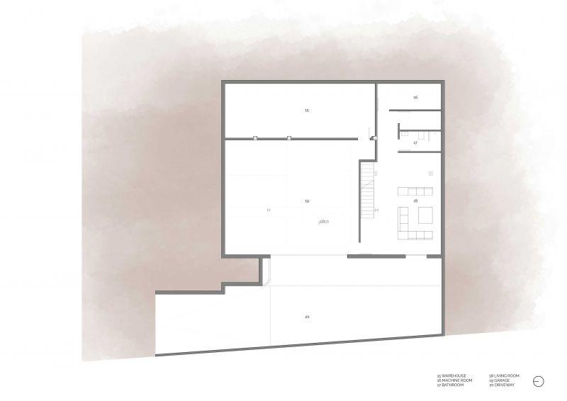 casa la cañada antonio altarriba planta sotano
