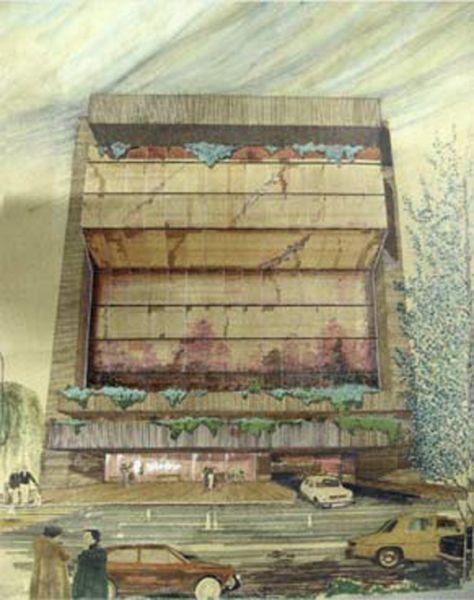 Arquitectura y Empresa Antonio Escario Homenaje promobanc boceto